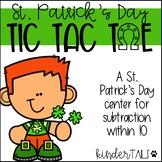 St. Patricks's Day Tic Tac Toe Subtraction Center