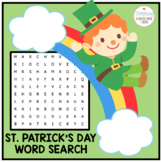 St. Patricks's Day Word Search for Second Grade