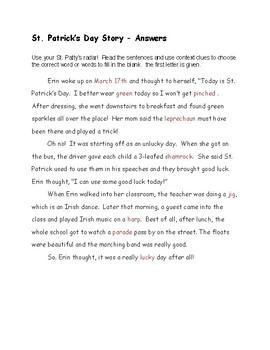 St. Patricks's Day for Grades 3-5