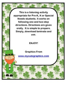 St. Pat's Day Listening Activity