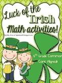 St. Pattie's {5th Grade} Math Centers!