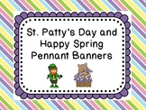 St Patty and Happy Spring Banners