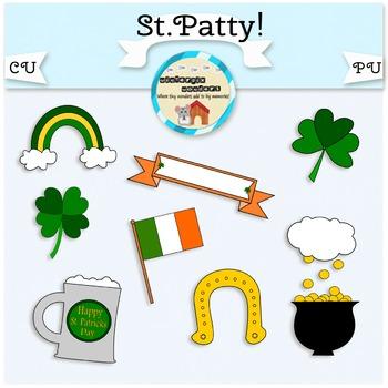 St.Patty!  - free - st.patrick's day - clover - irish - clip art