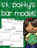 St Patty's Bar Model word problems just for St. Patrick's day