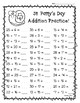 St. Patty's Day Addition Practice - St. Patrick's Day Math Worksheets!