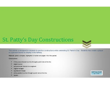 St. Patty's Day Construction Activity