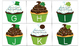 St. Patty's Day Cupcakes! {{An Uppercase/Lowercase Matchin