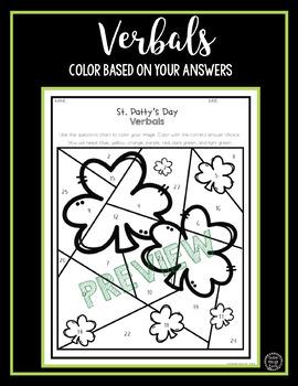 St. Patrick's Day ELA Activity - Verbals