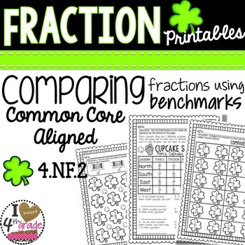 St. Patty's Day Fraction Printables Comparing Fractions