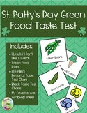 St. Patty's Day - Green Food Taste Test Activity