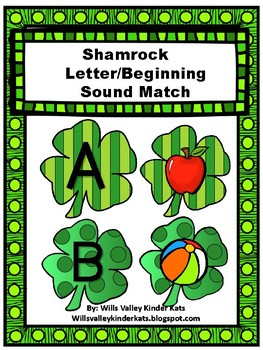 St. Patty's Day Letter/Beginning Sound Match (Initial Soun