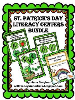 St. Patty's Day Literacy Centers BUNDLE