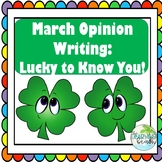 St. Paddy's Day OPINION Writing & Craft: I'm SO LUCKY to Know You! {Gr. 2-4}