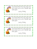 St. Patty's Day treat labels