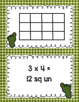 St. Patty's Finding Area Matching Game 3rd-4th Grade