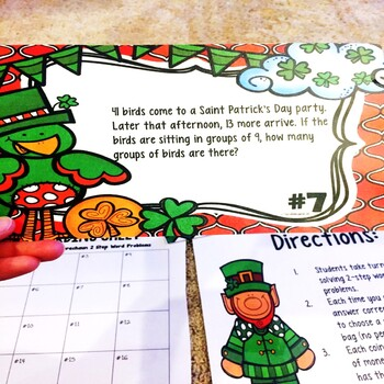 Multi-Step Word Problems March Math Center