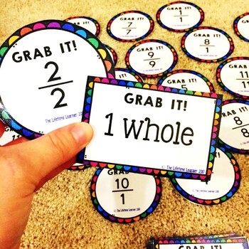 Fractions as Whole Numbers March Math Center