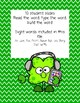 St. Patty's Sight Words for GOOGLE Classroom