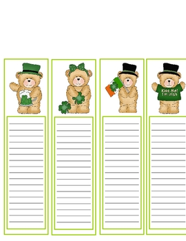 St Patty's Bookmarks