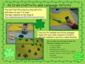 St. Patty's Craftivity and Language Activity {FREE}