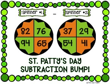 St. Patrick's Day Math Game:  2 Digit Subtraction