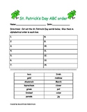 St. Patty's Day ABC order cut out