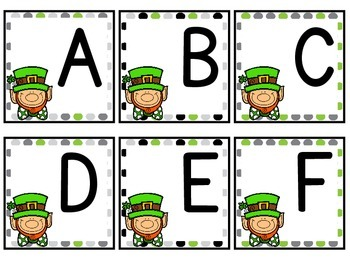 St. Patty's Day Alphabet and Number Cards **FREEBIE**