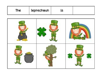 St. Patrick's Day Expressive/Receptive Language Packet
