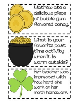 St. Patty's Day Fluency Practice