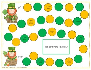 Game Boards - Dolch Sight Words Practice - St. Patty's Day Edition