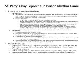 St. Patty's Day Leprechaun Poison Rhythm Game: Bundle