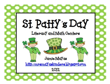 St. Patty's Day Literacy & Math Centers