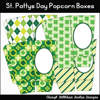 St. Pattys Day Popcorn Boxes Printables