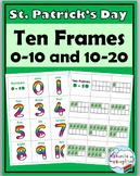 St. Patrick's Day Math Activity- Ten Frame Number Cards