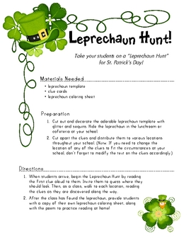 St. Patty's Day - Thematic Activities
