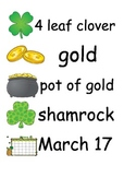 St. Patty's Day Word Cards