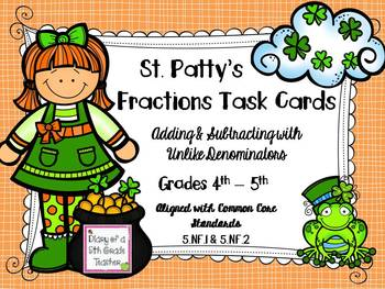 St. Patty's Fractions Task Cards
