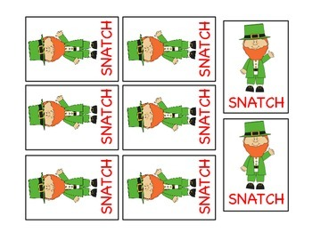 St. Patty's Sight Word SNATCH Game (Dolch Primer List)
