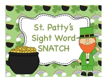 St. Patty's Sight Word SNATCH Game (Dolch Primer List)