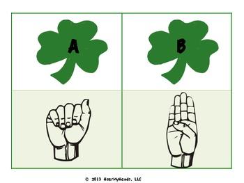 St Patty's Sign Language ABCs