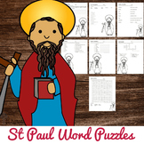 St Paul Word Puzzles - No Prep Catholic Activities