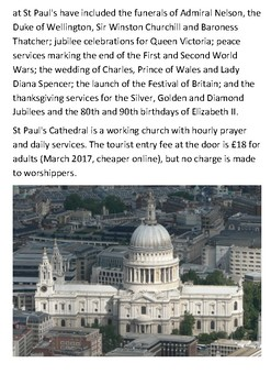 St Paul's Cathedral Handout