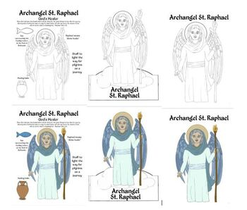 St. Raphael Archangel Activities, Coloring, and Papercrafts