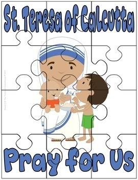 St. Teresa of Calcutta Worksheet & Activity Pack