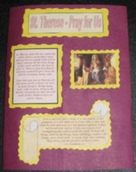 St. Therese the Little Flower Catholic Lapbook