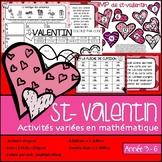 St-Valentin - Activités de mathématique