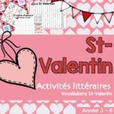 St-Valentin - Activités de littératie