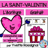 St-Valentin (Écriture & Communication orale) cahier interactif , French Prompts