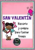 St Valentine Spanish - Sentence Building - Español San Val