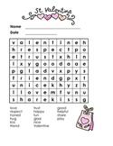 St. Valentine-Word Search